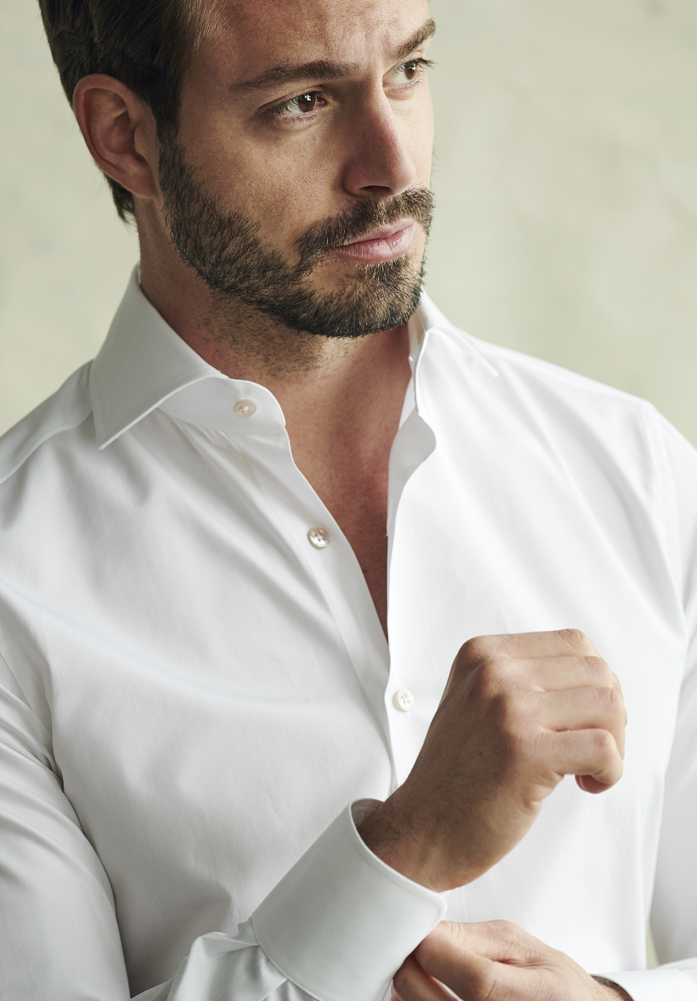emanuele white shirt crop